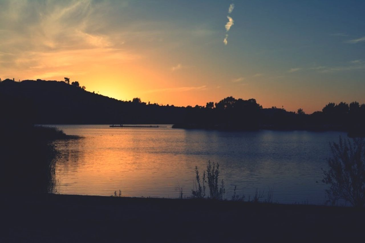 Sunset on the Solstice Sunset✨trees✨ Solstice Sunset lake