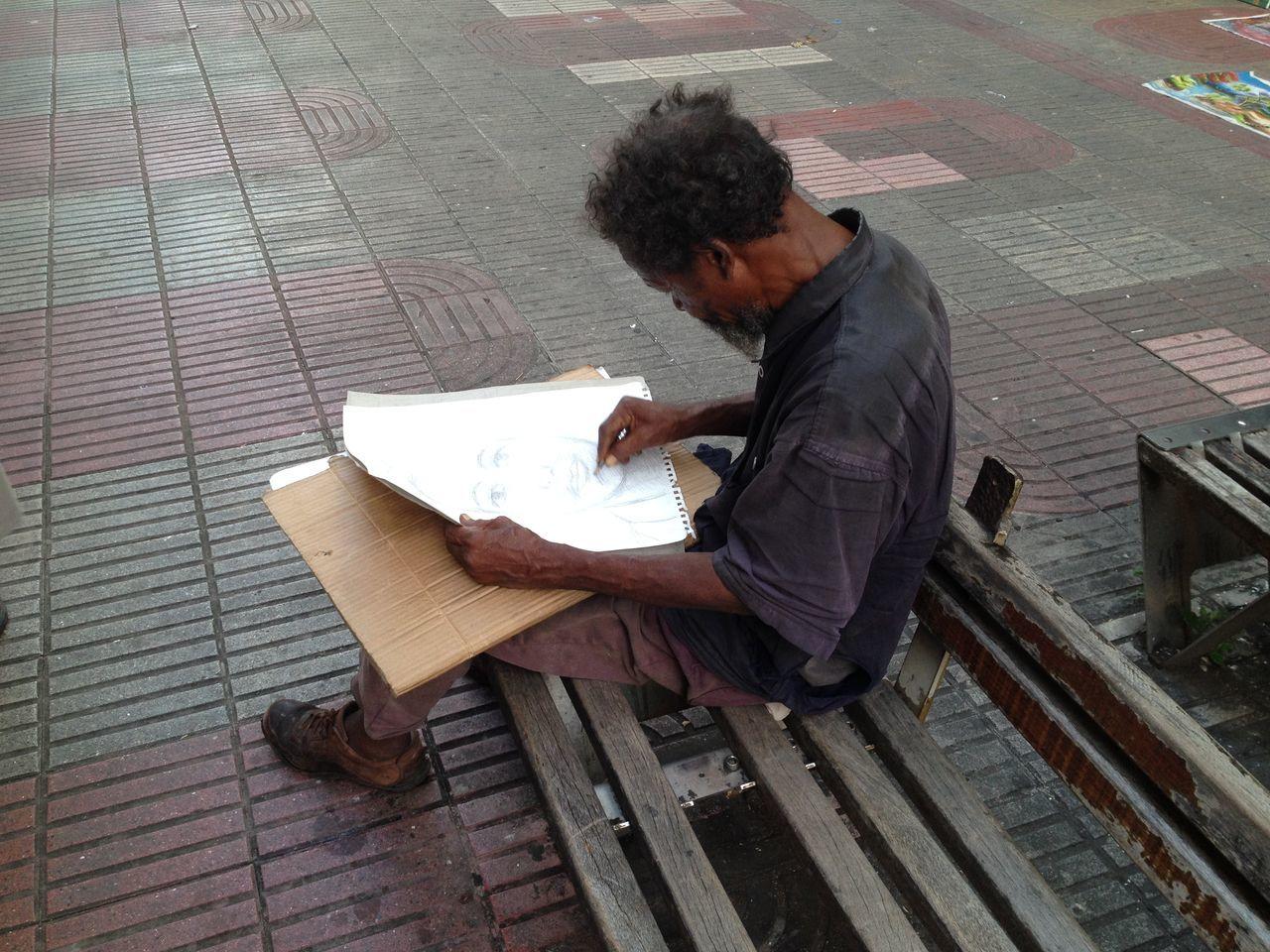 Beautiful stock photos of zeichnungen, one person, reading, leisure activity, lifestyles
