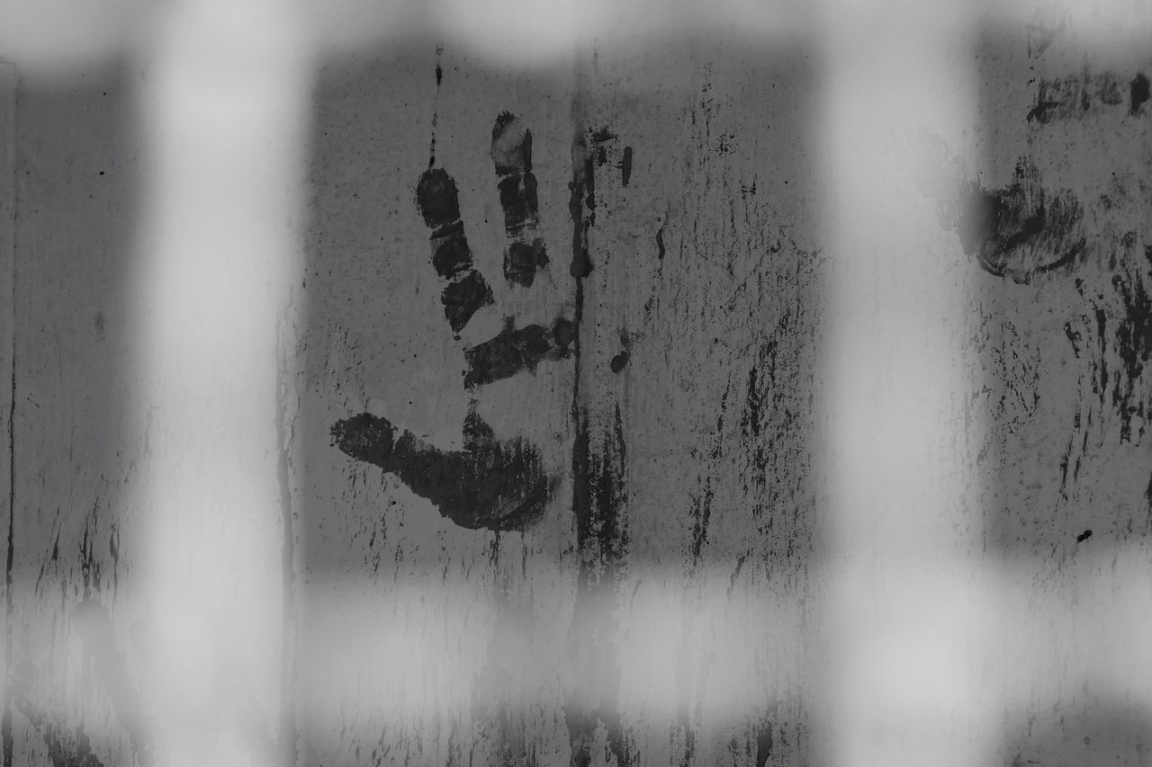 Close-up Paint Bw Photography Human Hand Social Issues Indoors  Behind Bars