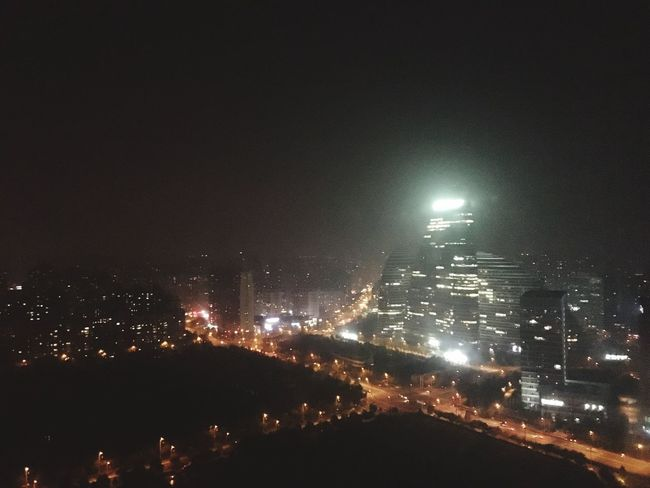 Sleepless Nights Citylights Beijing China Illuminated Night City Cityscape Architecture Built Structure Building Exterior Dark Sky Aerial View City Life Wide Shot Wide Outdoors Scenics No People
