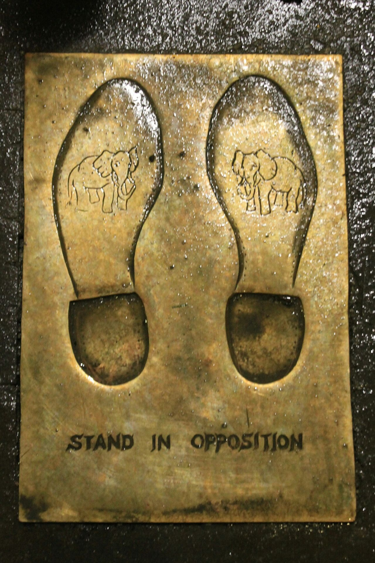 Stand in opposition Boston Boston, Massachusetts Massachusetts Close-up No People Outdoors Plaque Elephants Republican Party Republican Elephant Feet Foot Prints