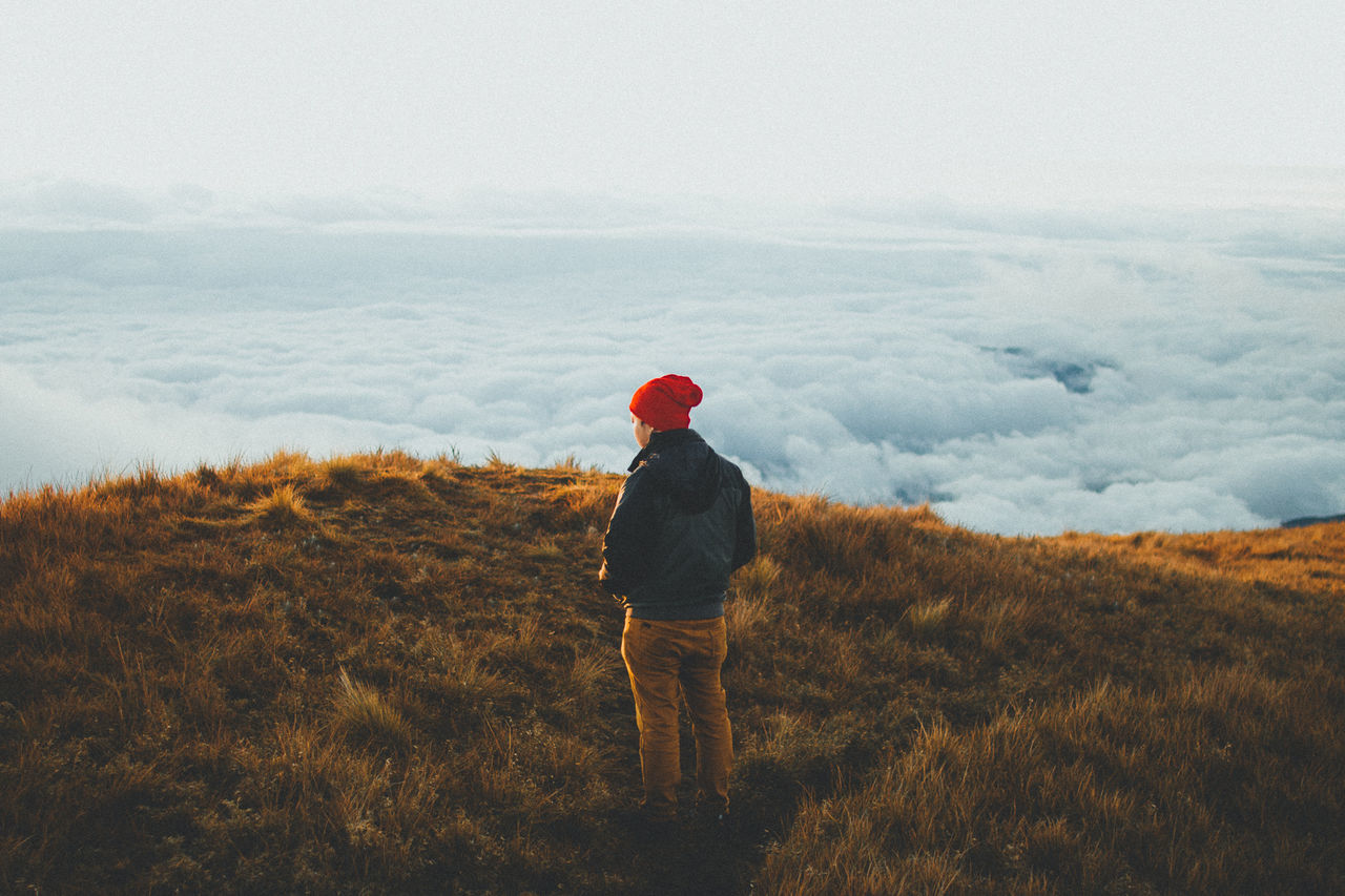 Adventure Beauty In Nature Cloud - Sky EyeEm Best Edits EyeEm Best Pics EyeEm Best Shots Eyeem Philippines Grass Hiker Hiking Landscape Mountain Nature One Person Outdoors Portrait Pulag Sea Of clouds Sky Standing The Great Outdoors - 2017 EyeEm Awards The Portraitist - 2017 EyeEm Awards
