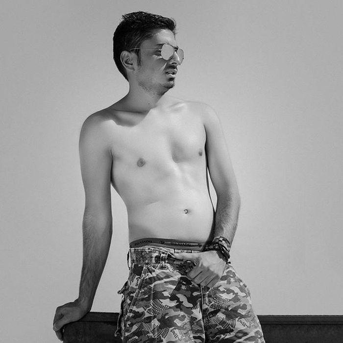 No name © copyright: Madjid Mirsalmi - 2013 Men Fashion Portriat Model Blackandwhite Kasraphotography Mood Style Outdoor Lighting