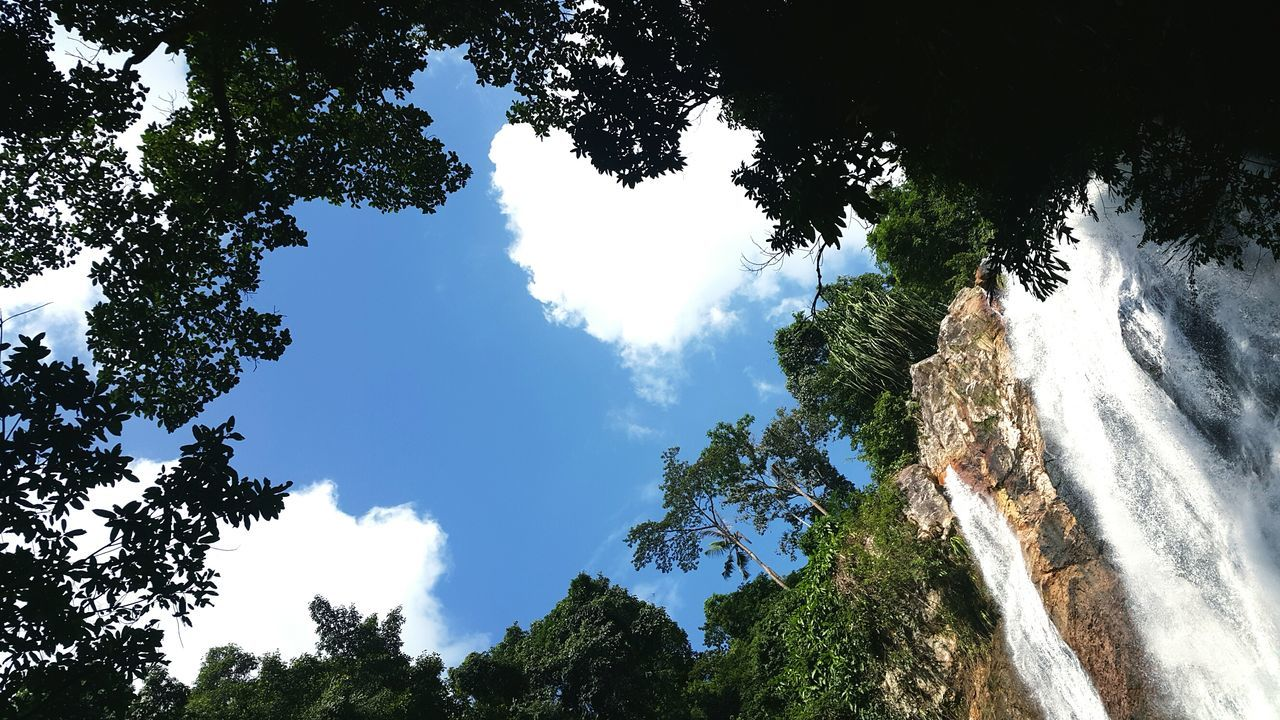 The beauty of nature. LoveNature Traveling Home for the Holidays Beauty In Nature Thailand Outdoors Outdoor Activities Waterfall Sky Skyview Scenics Thailandtravel Weather Photography Cloud - Sky Kohsamui_thailand