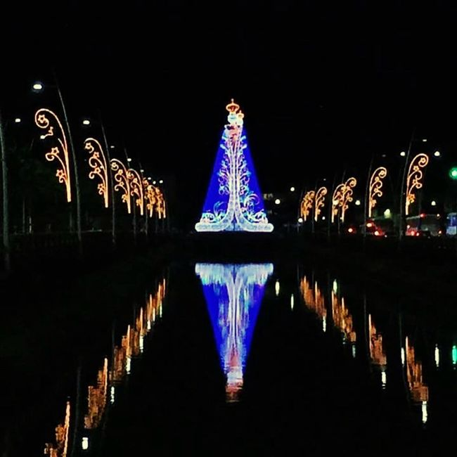 Círio de Nazaré na doca! Illuminated Night Reflection