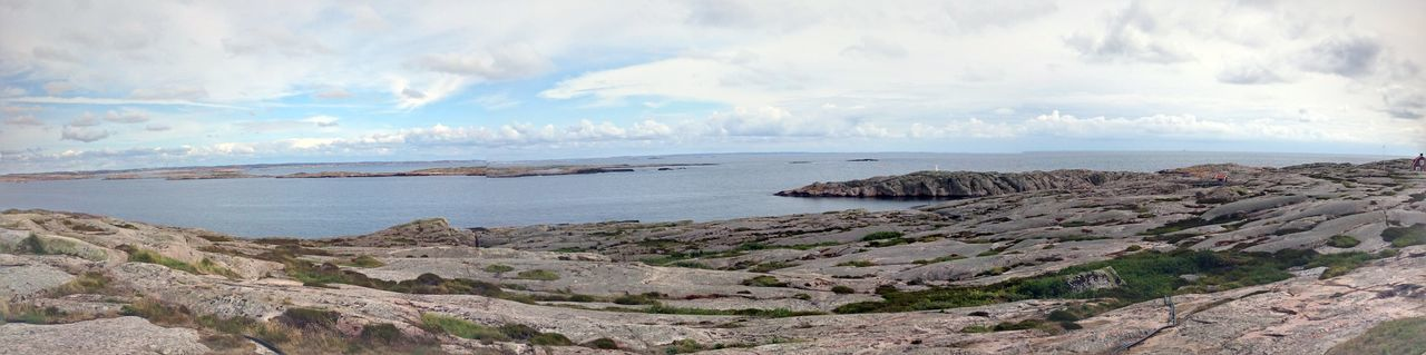 Overview Stone Island Sky And Clouds Alone No People Landscape Nature Sea And Sky Sea View Sweden Smögen Lost In The Landscape