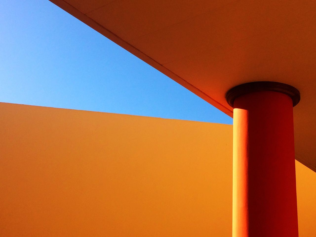 Minimalist Architecture Red Architecture built structure orange color Clear sky blue Sunlight building exterior hotel SPAIN Fuerteventura Colors colorful Architecture building Architecture_collection design architectural detail minimalism Fine Art Photography shootermag eye4photography The City Light EyeEm Best Shots
