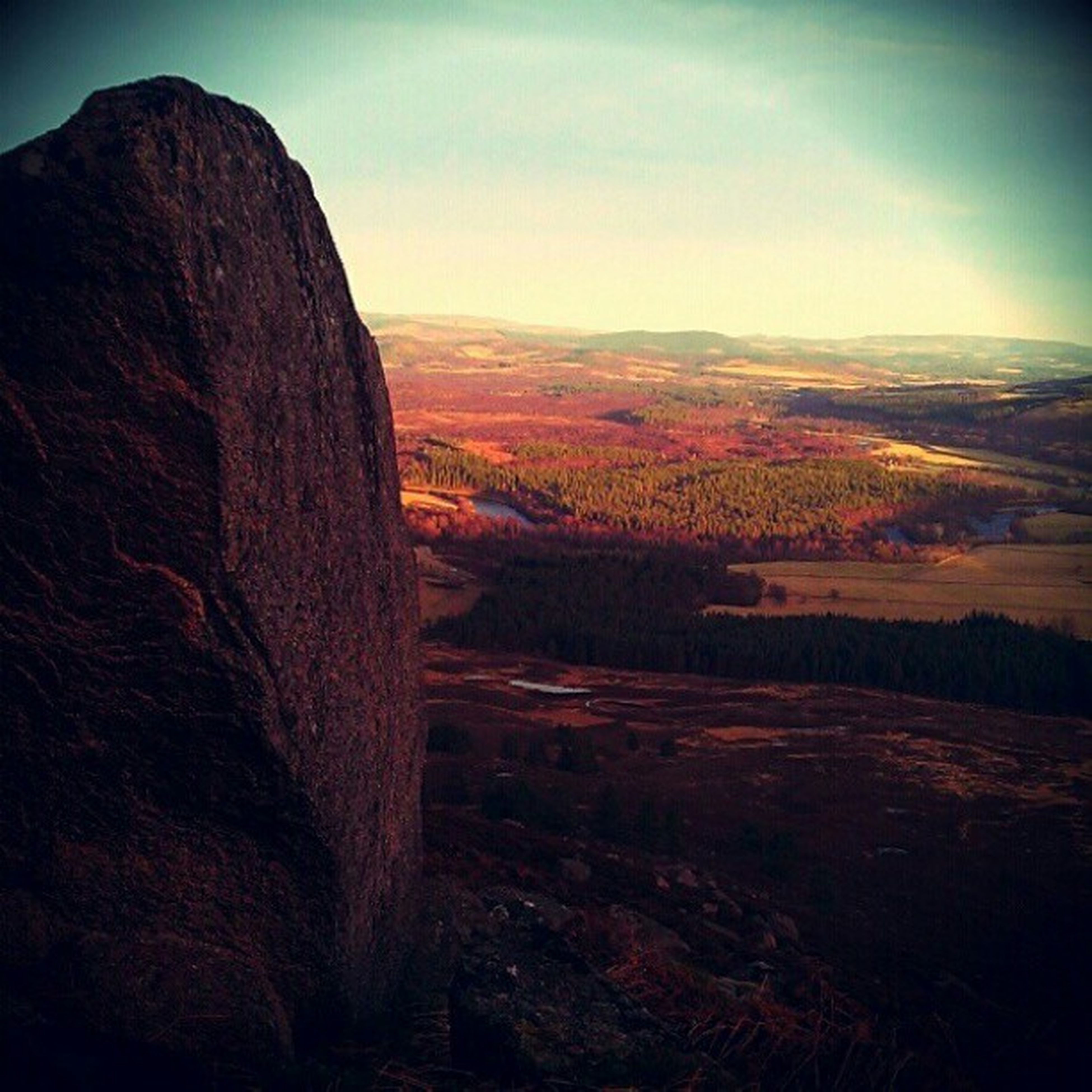 One big boulder and one beautiful view Mycamerastories Bouldering Boulderscotland Landscape scotland royaldeeside beautiful theview walkingthedog adventures