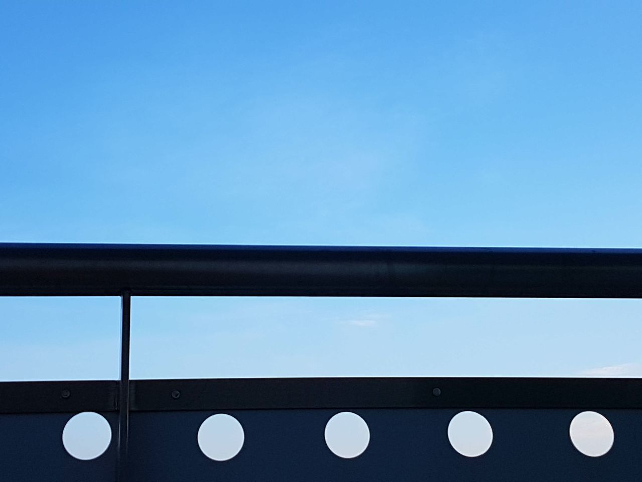 No People Sky Day Clear Sky Outdoors City Contrast Circles Blue Shapes And Lines Silhouette