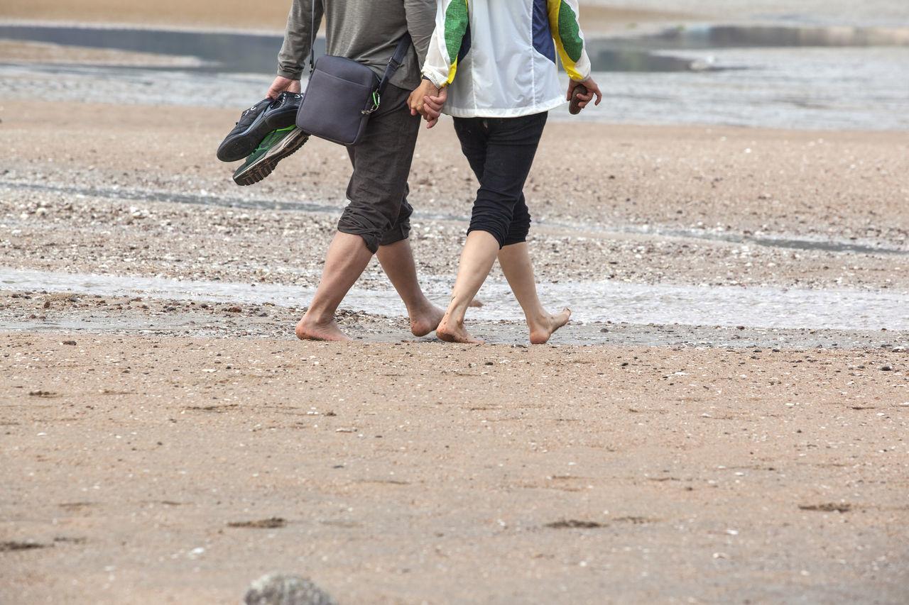 Beautiful stock photos of south korea, Barefoot, Beach, Couple, Holding Hands