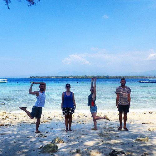 Life's a Beach on the Gili Islands Islandhopping Gilimeno Rtw Travelling Indonesia Pose HumanAlphabet