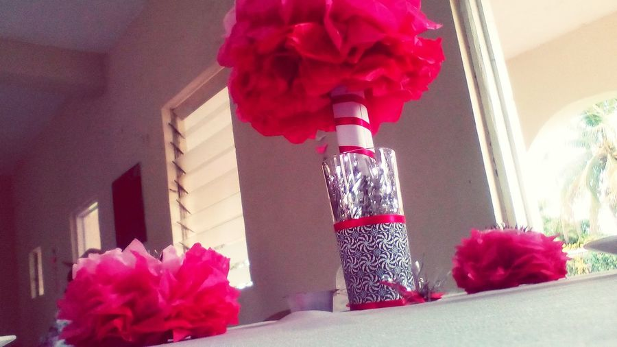The Beauty of a centre piece. Close-up No People Holiday - Event Celebration Red Flower Decoration Centrepiece Wedding Pink Color Pink Table White Church Jamaica First Eyeem Photo