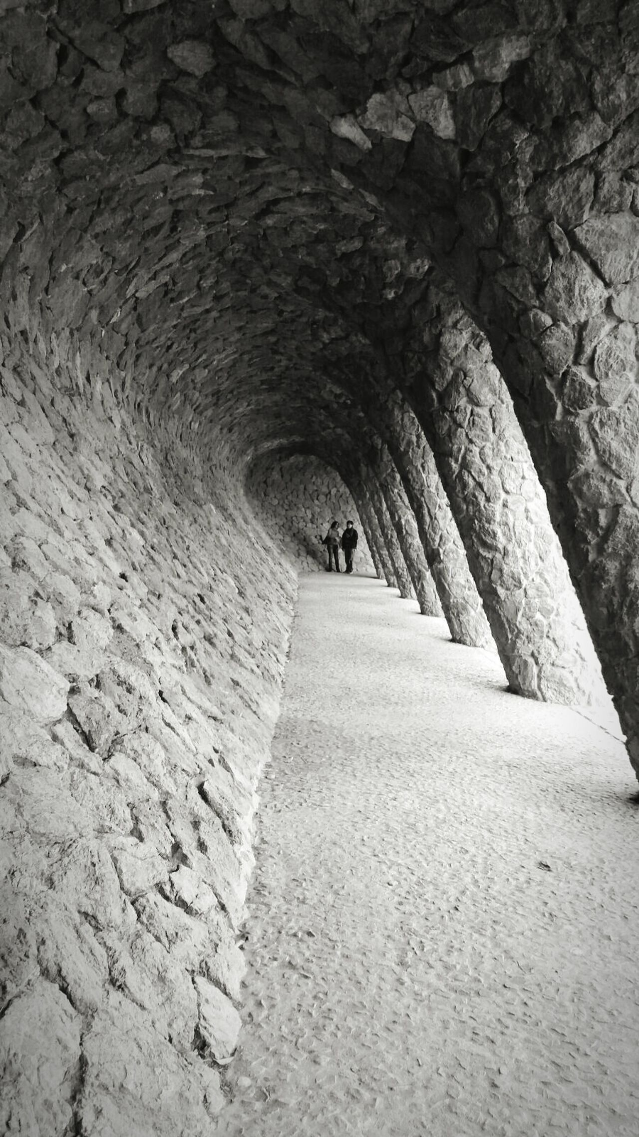 The Way Forward Tunnel Arch Architecture Day Nature Outdoors Barcelona Gaudi Gaudì Architecture Work Architecture Tunel Art