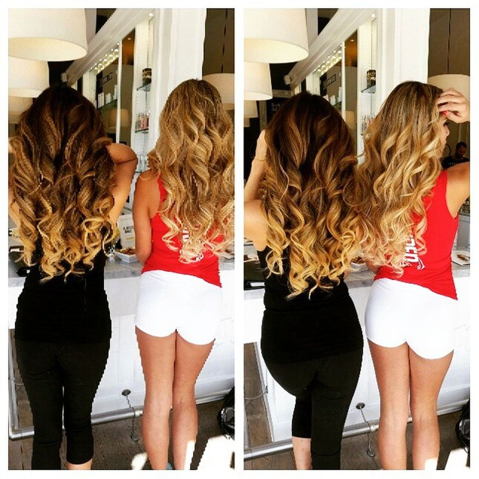 These two cute girls walked in to the salon straight and left after with Curls Hair Hairstyle Hairphoto HairInspiration Hollywood westhollywood ChantelZales @arikasato arikasato