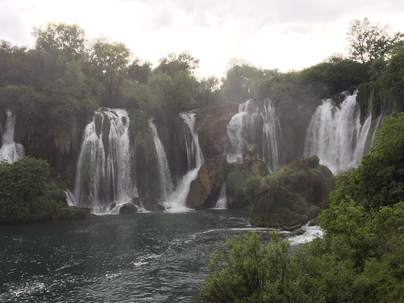 The sun started to come out in Kravica! Waterfall Kravica, Bosnia & Herzegovina