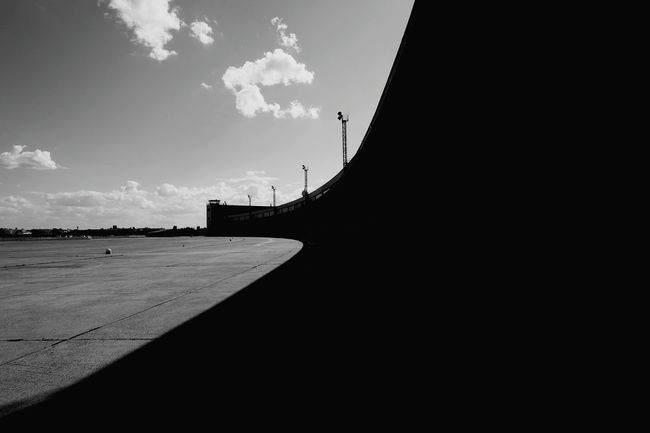 Eyeem Tempelhof Adventure Architecture Lines And Shapes Light And Shadow Black And White Urban Geometry High Contrast