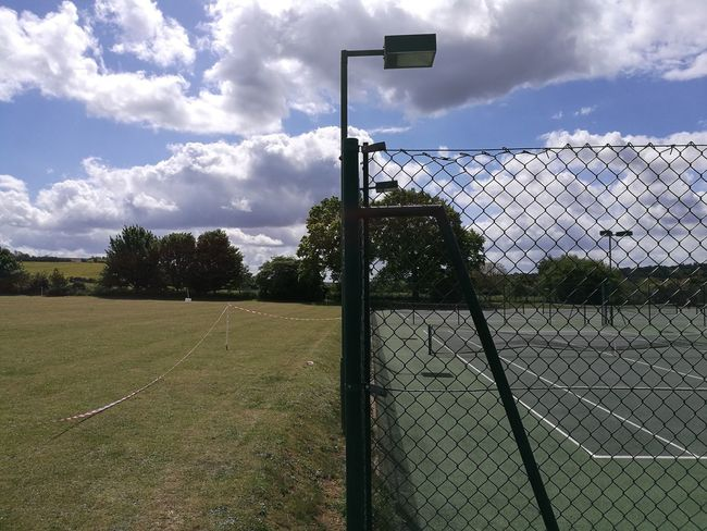 Cloud - Sky Sky Sport Day Playing Field Outdoors No People Tree Nature Grass Competition Court