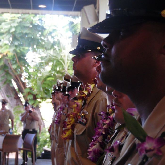 Congratulations to all the newly pinned Chief's out there. USN Newly Pinned Chiefs Jbphh Nofliterneeded Promotion Khakis Pinning Ceremony Goats Navy MCSN Congratulations Sept16 Hawaii Oahu Pearlharbor