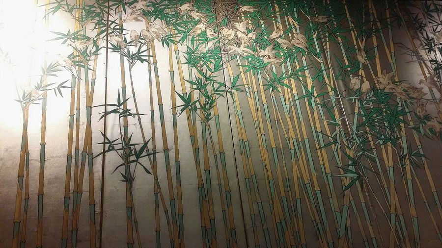 Japanese Screen Gold Bamboo Birds Art Ryu Japanese Restaurant Singapore