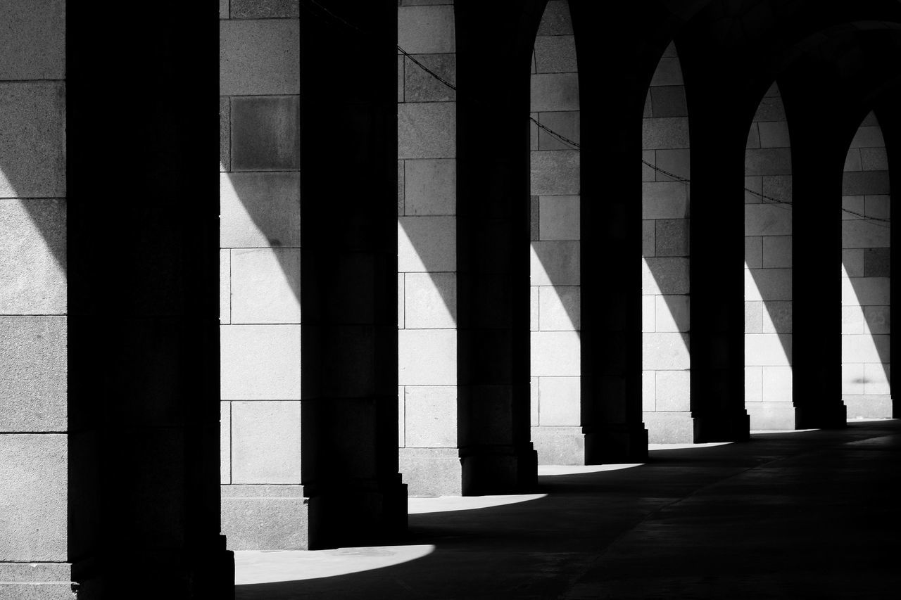 Abstract Architecture Blackandwhite Colonnade Contrasts Geometry Neoclassical Architecture Shadows & Lights The Architect - 2017 EyeEm Awards