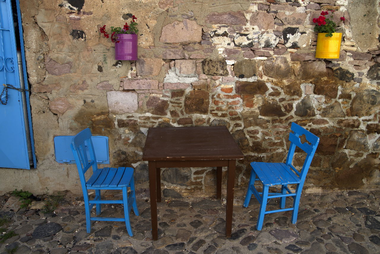 walking in Ayvalık (Turkey) (06/2014) Aegean Sea Ayvalik Ayvalık Blue Cafe Time Chair Colorful No People Sahil Sahil Kafe Sokakfotografi Streetphotography Travel Photography Turkey