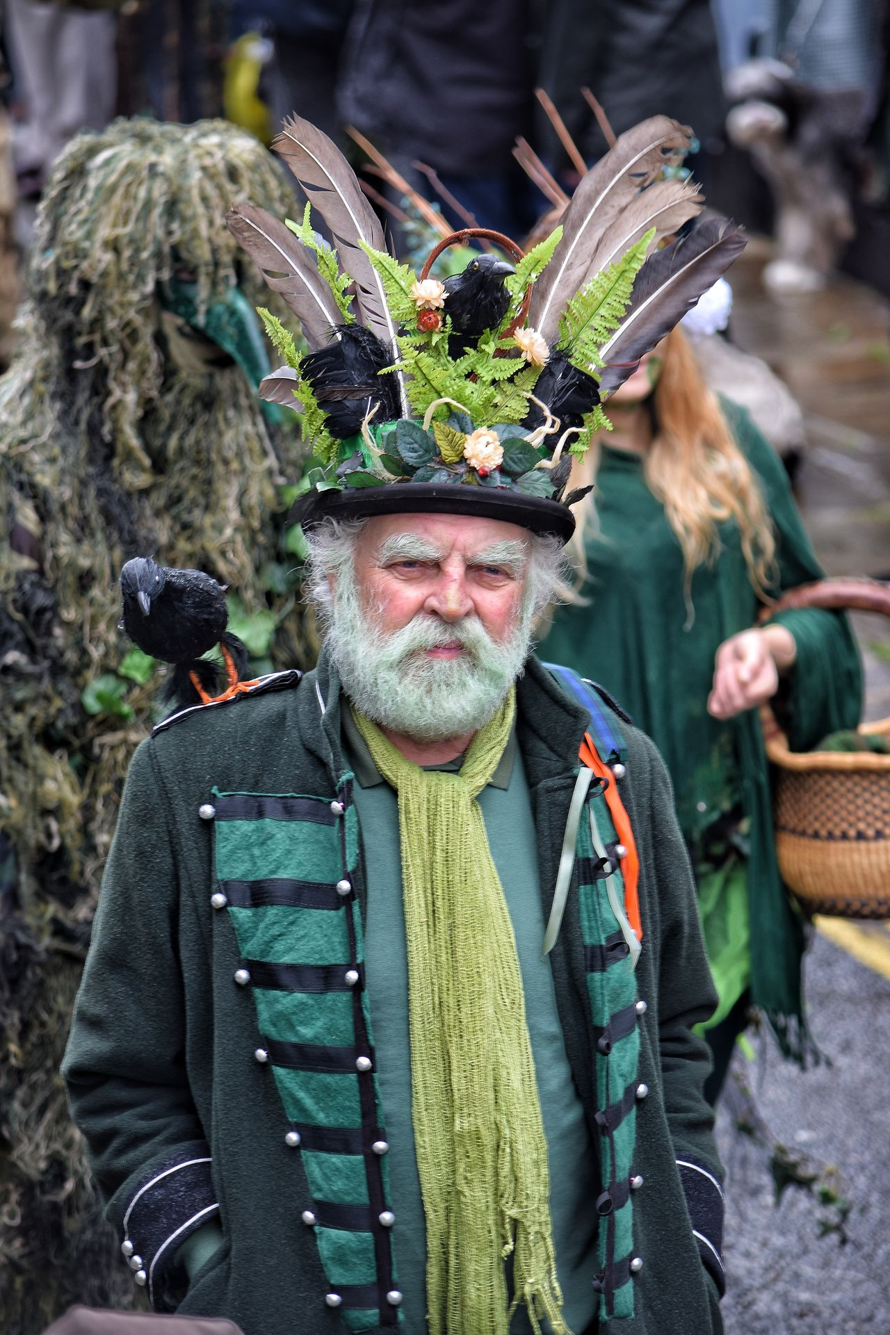 Jack In The Green Festival Jack In The Green Hastings East Sussex May Day 2017 May Day Arts Culture And Entertainment Freshness Only Men One Man Only Portrait Headwear Men Headdress Real People Day One Person Feather  Pagan Nature Multi Colored Close-up Outdoors Tradition Happiness