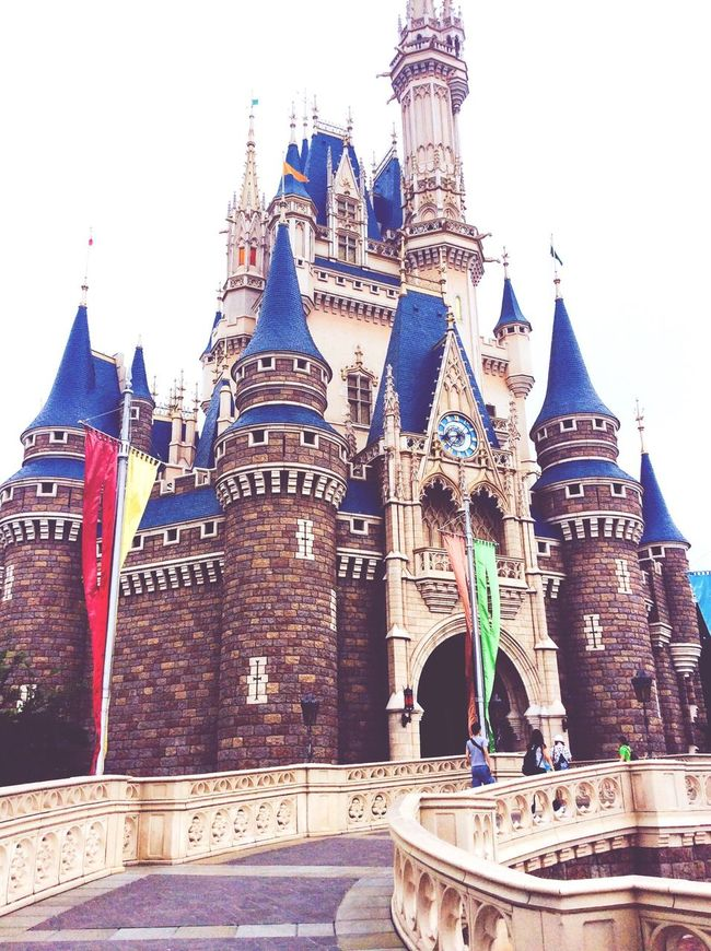 Disney Tokyo Tokyo Disney Land Disney Diseneyland Architecture Building Exterior Built Structure Tourism Spirituality Place Of Worship Travel Destinations Religion Low Angle View Famous Place Travel Flag Clear Sky History Church Tower Outdoors Sky Spire  Arch