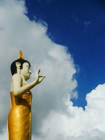 Low Angle View Sky Cloud - Sky Statue Vientiane, Laos Vientiane Laos Vientiane Travel Laos Explore Laos Pha That Luang Laos Laos Travel Laos Temple Phathatluang Thatluangtemple Thatluang Pha That Luang That Luang Buddha Statue Buddhastatue Buddha Head Clouds And Sky Buddha In The Sky In The Sky Peace