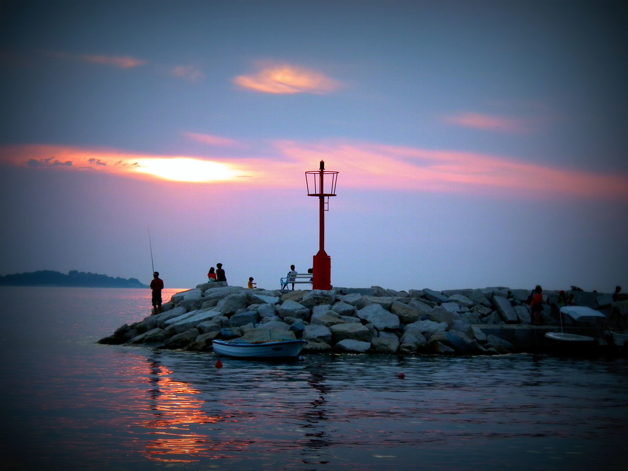 Beauty In Nature Croatia Lighthouse Nature Sea Seaside Sky Sun Sunset Tranquility Water Waterfront Neighborhood Map Sommergefühle Sommergefühle
