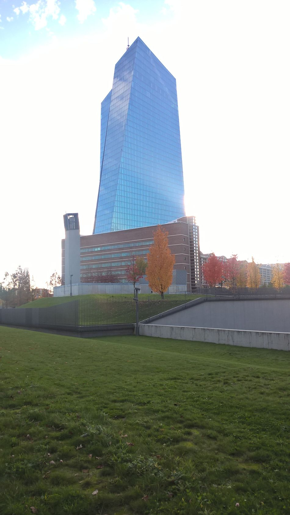 4 P.m. Around The ECB Autumn Colors Bright Colors European Central Bank Great Sky October 30th, 2016 Romantic Landscape Sunshine!