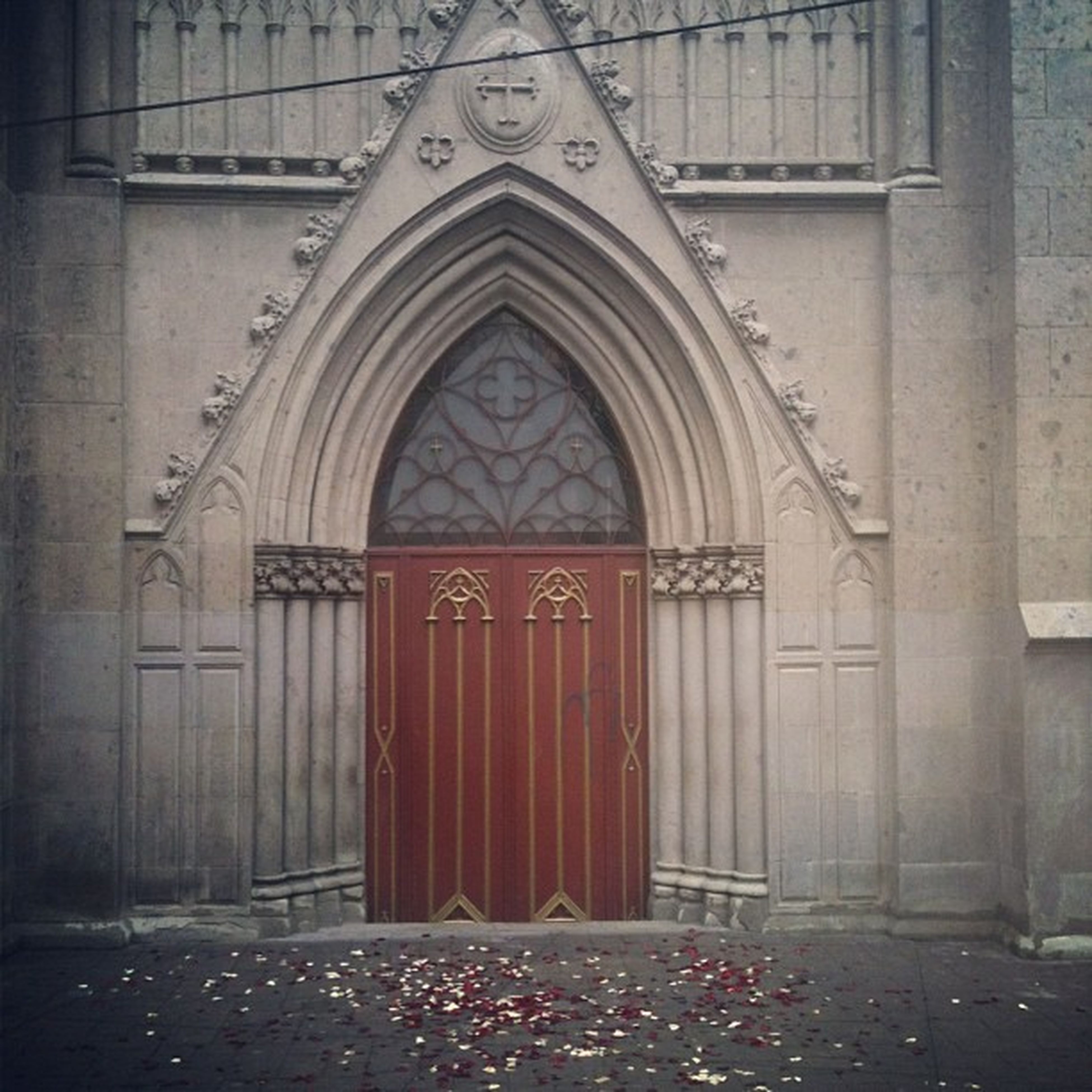 architecture, built structure, door, building exterior, closed, entrance, arch, window, place of worship, church, religion, house, facade, red, wood - material, spirituality, protection, safety, day