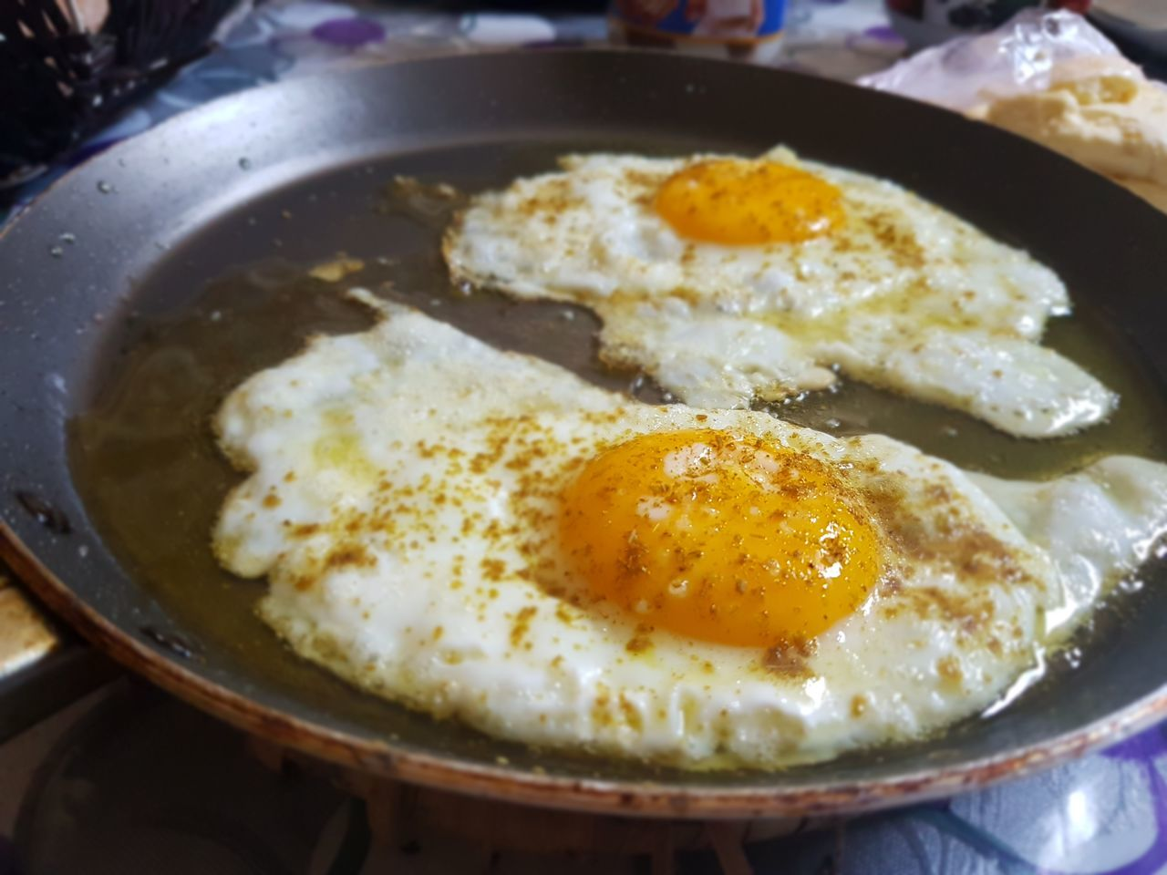 egg, food and drink, food, egg yolk, fried egg, breakfast, healthy eating, freshness, indoors, ready-to-eat, fried, no people, close-up, plate, omelet, meal, day