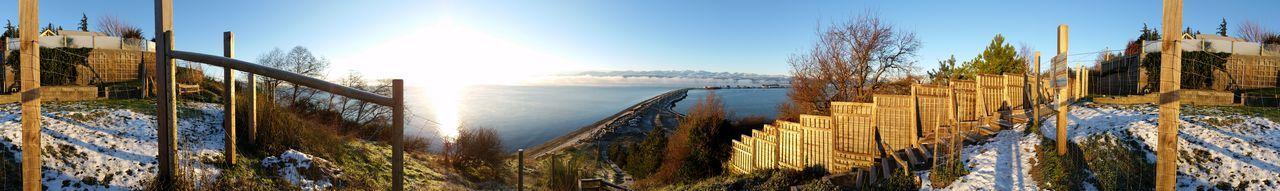 Panorama on top of beach stairs Beach EyeEm Nature Lover Panorama Clouds Beauty In Nature Eye4photography  EyeEm Gallery