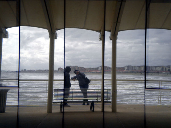Bench Cloudy Mirror People Photography Reflection Seaview Waves Wharf Showcase March Belongs To Me