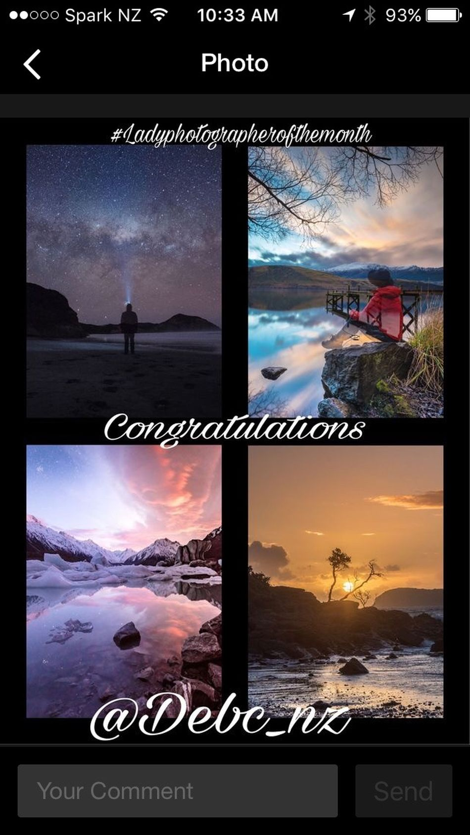 Was so excited to get this! Ladies Plase follow Gordy @Durhamite he puts so much time into this and tag your photos to Ladyphotographerofthemonth