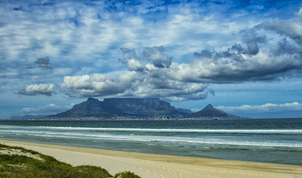 Beauty In Nature Blaauwberg Beach Cloud - Sky Cloudy Coastline Mountain Mountain Range Nature Scenics Sea Sky Tablemountain Water