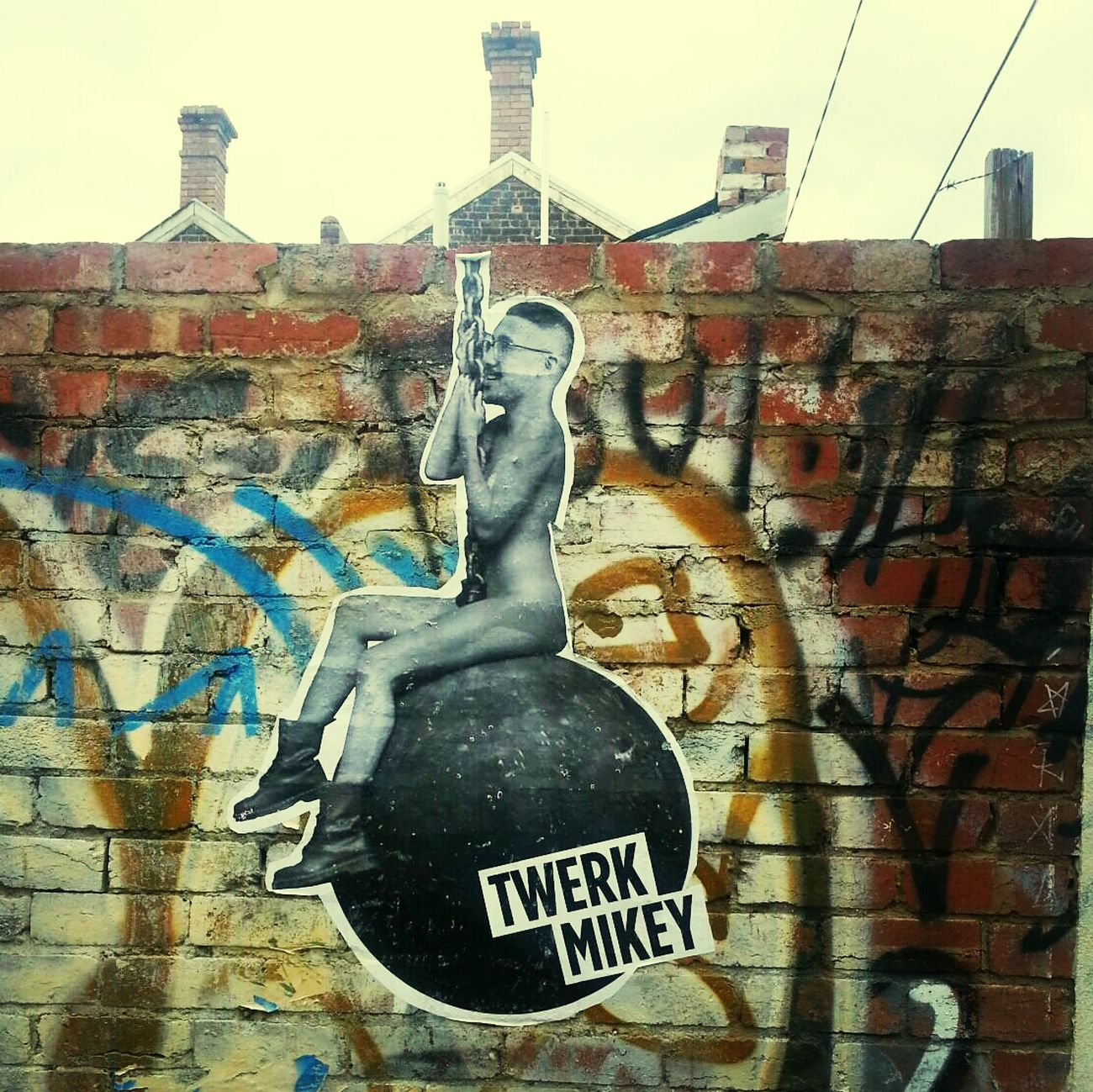 Pasteup Streetart parody of Miley Cyrus & Twerking