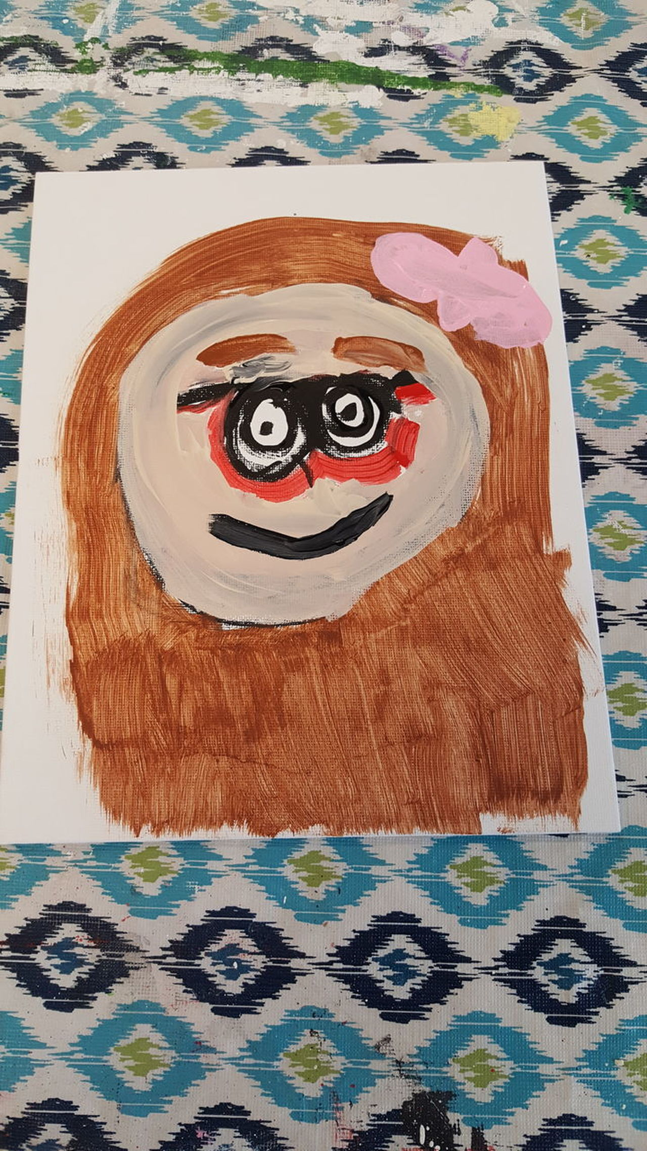 child's painting Portrait Of Mommy Painting Work Of Art Art Gallery Multi Colored Mother's Day Special Holiday The Portraitist - 2017 EyeEm Awards