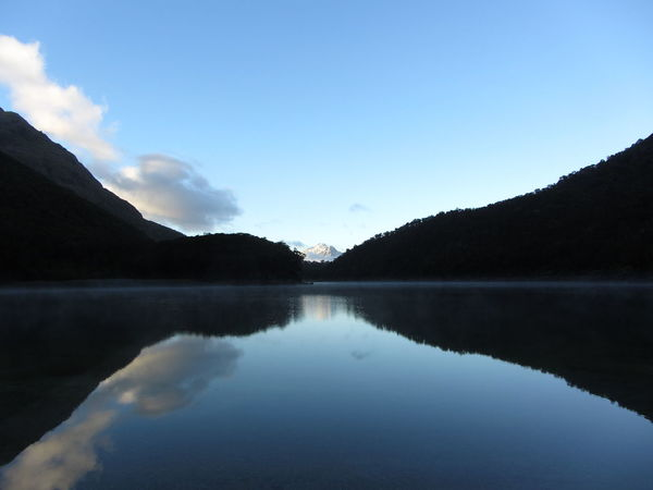 Lake Mackenzie Beauty In Nature Day Great Walk Lake Landscape Mountain Mountain Range Nature New Zealand No People Outdoors Reflection Routeburn Track Scenics Sky Tranquil Scene Tranquility Tree Water Waterfront