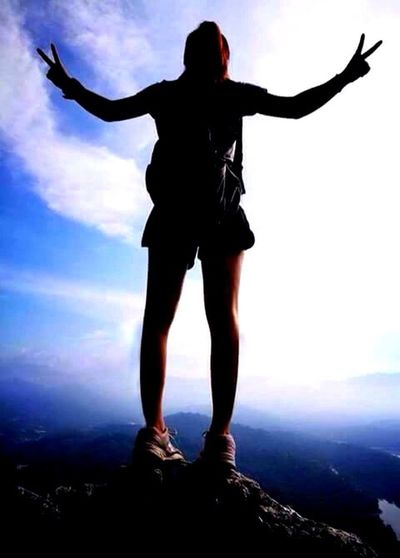 Full Length Sky Front View Cloud - Sky Outdoors One Person Adventure Day People Adult The Way Forward Tranquility Growth Beauty In Nature Scenics Nature Freedom Lifestyles Beauty Moutain Climbing Taburhill Malaysia Scenery 5hoursclimb Challenge Accepted