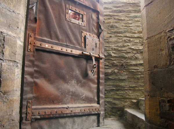 Architecture Brick Wall Brown Castle Door Door Hatch Dungeon Iron Door Locked Up Metal Middle Ages Old Buildings Trapped Belgium Bouillon