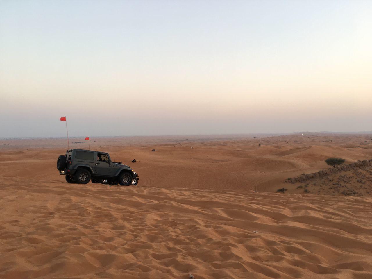 Dubai Sand Desert Sand Dune Arid Climate Car Off-road Vehicle Nature Outdoors Sunset Scenics Extreme Terrain Sky No People Beach Day