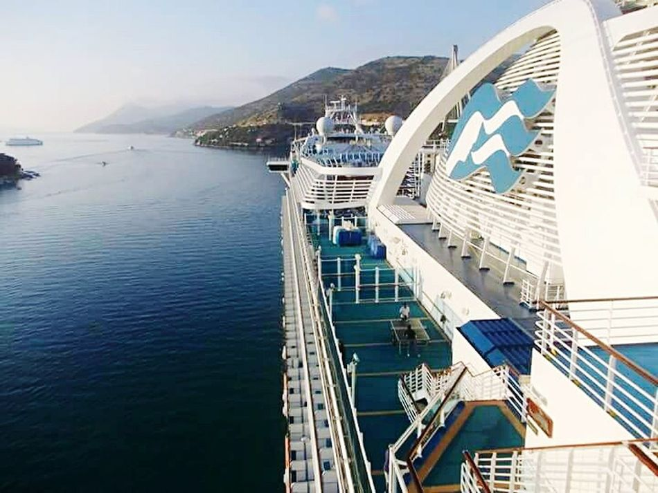 Dubronik Port Travel Sea And Sky Cruise Ship TravelDestinations Travel Photography