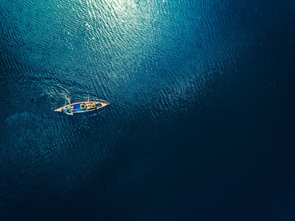 Beautiful stock photos of background, Beauty In Nature, Boat, Day, Directly Above