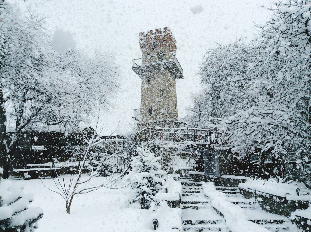 Winter is wonderful Winter Wintertime Winter Wonderland Snow Snowing Day Travel Traveling World Nature Tower