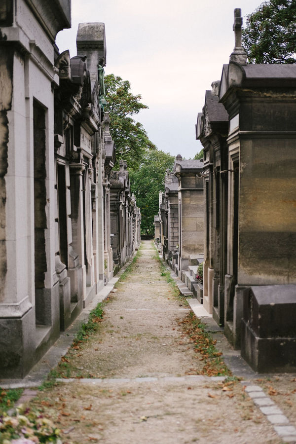 Cemetery City Day France Mausoleum No People Outdoors Paris Path Perspective Père Lachaise Tombs