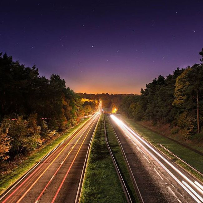 Shot over the A556 Northwich Cheshire Northwich Cheshire A556 Canon Longexposure Amazinglongexposure Photography Photographer Myphoto Instadaily Sandiway Road Trails Instagram Instagood Stars Grass Mycanon Can_1200d