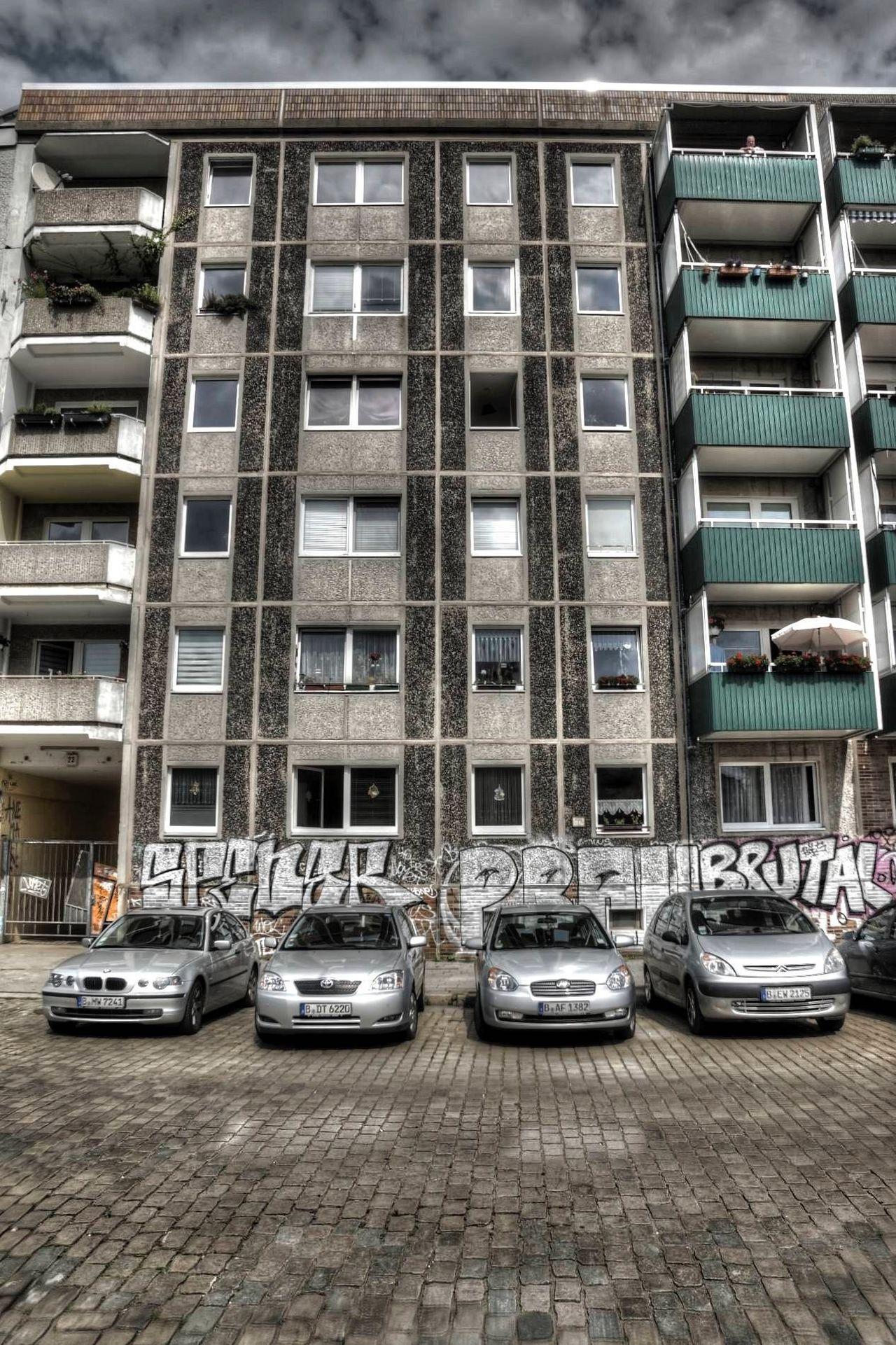 Architecture Berlin Building Exterior Built Structure Car Day No People Outdoors Plattenbau