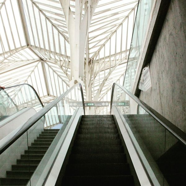 Railing Staircase Steps And Staircases Steps Architecture Built Structure Indoors  Modern No People Futuristic Day Station Indoors