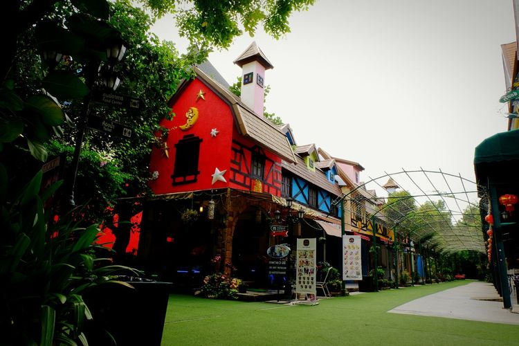Architecture Tree Building Exterior Red Built Structure Pattaya, Thailand Outdoor Photography City Travel Destinations Travel